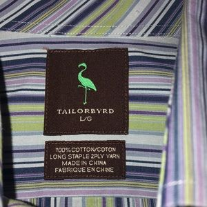 Tailorbyrd mens size Large long sleeve button down